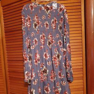 LUSH grey long sleeve dress size large